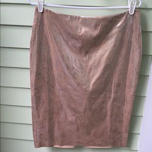 WHBM rose gold pencil skirt size 6